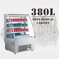 180L To 380L High Efficient Glass Door Open Beverage Refrigerator With LED Lights