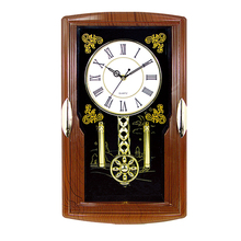 2017 Hot sale fake wooden old pendulum wall clock