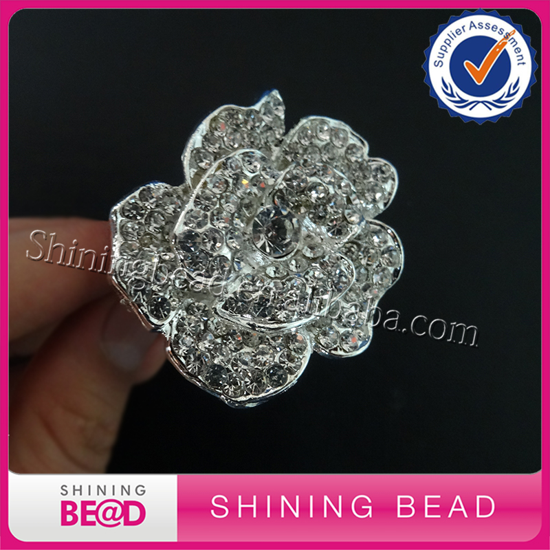 Crystal Rhinestone Table Decor Bling Supplies Wholesale,Flower Napkin Ring Holder Wholesale