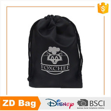 Eco black non woven drawstring backpack bag