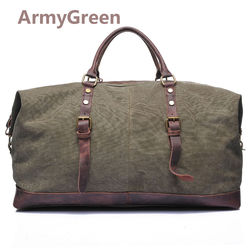 Large Capacity Men's Canvas Weekender Shoulder Travel Luggage Duffle Gym Bags