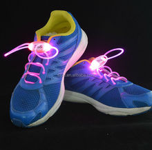 Fashion Flashing LED Shoelace Light For Party /LED Light up fiber shoelaces for skateboard