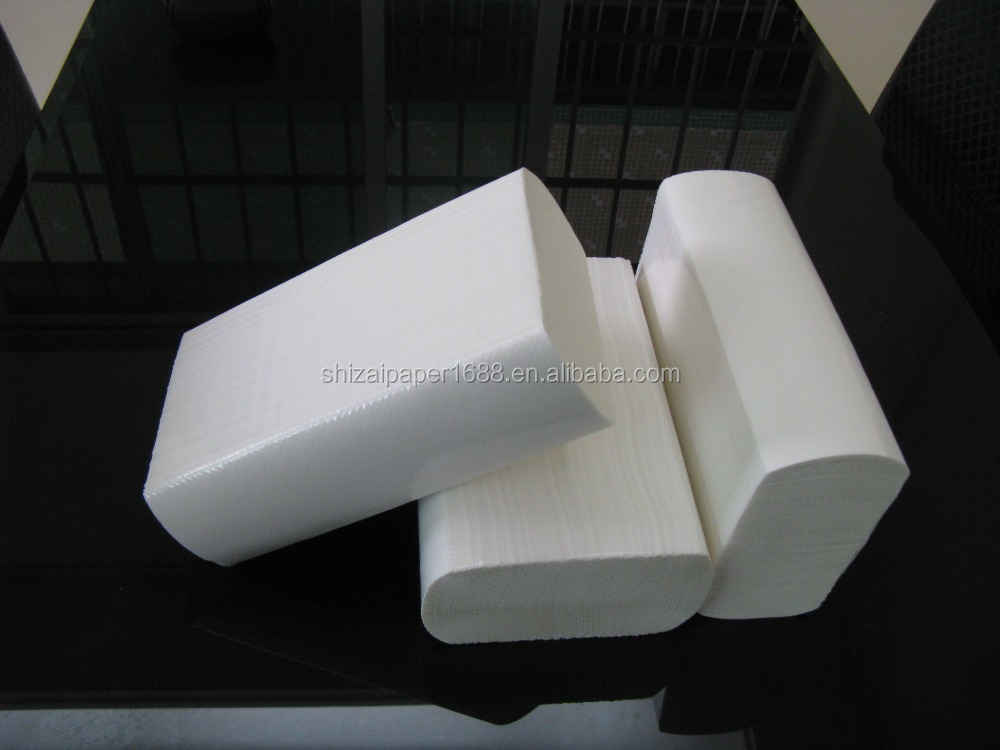 Cheapest price z fold good quality embossed paper hand towel, hand tissue paper, N Fold towel paper tissue