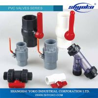 Yoko SINGLE UNION BALL VALVES CHEAP PLASTIC VALVES for Pressure Water