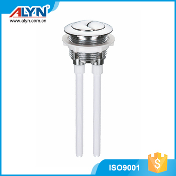 Silvery round good ABS double toilet push button