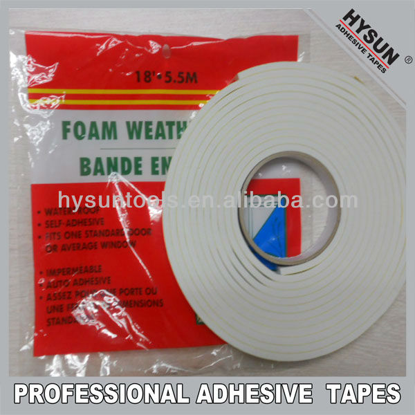 Foam weather strip tape