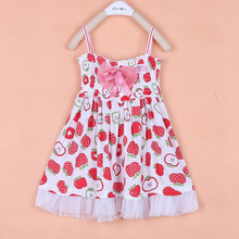 S30144W 2015 FASHION GIRL'S FRUIT DREAMING PARTY SWEET DRESS