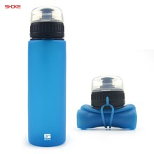 Custom Printed Eco-Friendly Silicon Foldable Water Bottle
