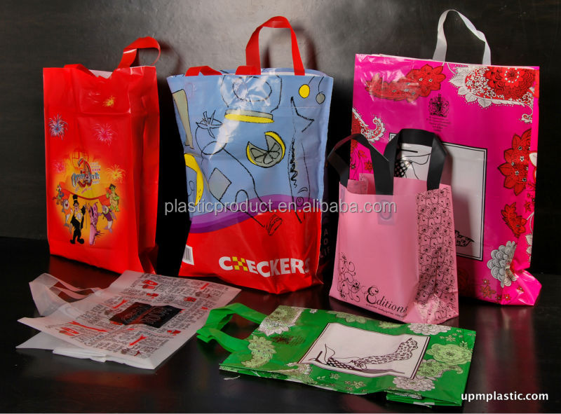 Customer Print Biodegradable Plastic Shopping Bag