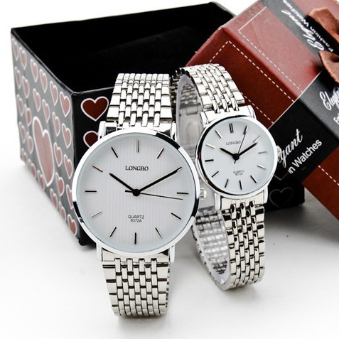 New Arrive Longbo Luxury Brand watch for women full stainless steel men's watch fashion quartz watch montre femme de marque