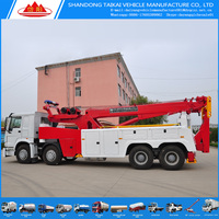 Manufacture 30 ton tow truck wrecker, HOWO 8 X 4 tow truck