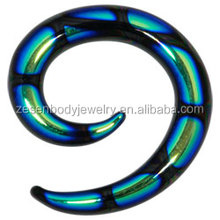 acrylic spiral ear stretcher body piercing jewelry wholesale