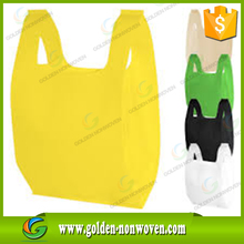 China t shirt non-woven pp bags supplier/biodegradable non woven t shirt shopping bag