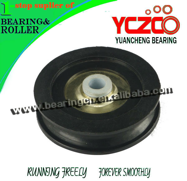 china manufacture nylon pulley wheel bearing,grooved pulley