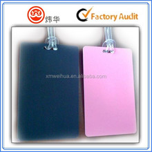 waterproof synthetic paper hang tag plain style soft rope