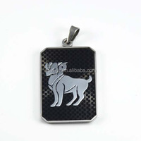 New Products 2015 Fashion Jewelry 12 constellations Aries Stainless Steel Pendants for man