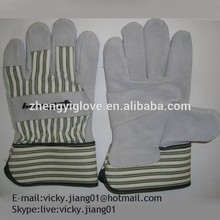 10.5'' cow spilt leather winter glove with CE certificate