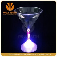 Novelty Fashion Promotion led light drinking glow champagne glass