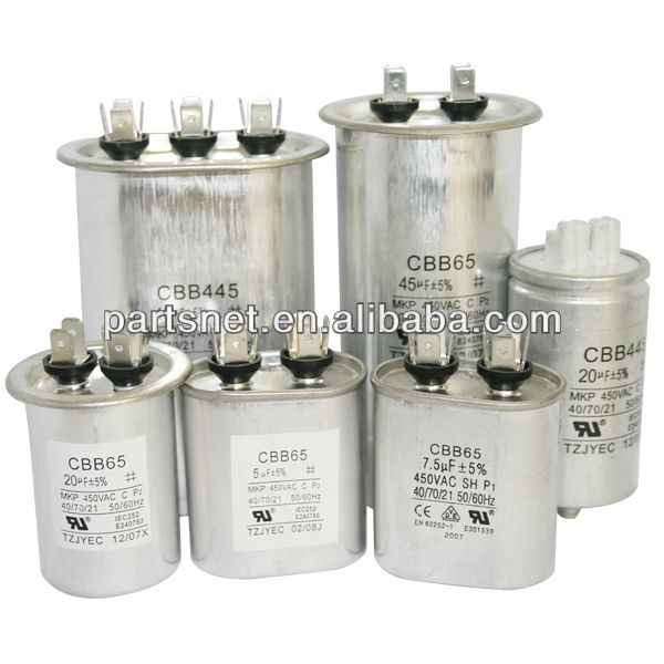 CBB65 Aluminum Run Capacitor / CBB65 Capacitor/ Air conditioner capacitor