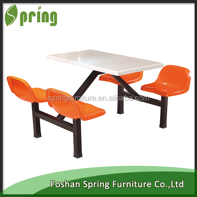 foshan factory Used school canteen furniture 4 seats table and chair for sale