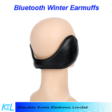 2015 factory price Bluetooth Music Stereo Headphone Winter Warm Leather Earmuff for joy life