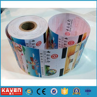 Custom thermal labels/paper roll for bank receipt paper