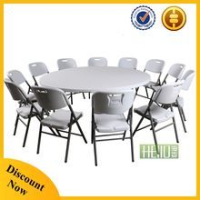 garden furniture outdoor 5 foot folding plastic round table