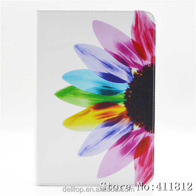 Hot Selling Multi Pattern Printing Leather Card Holder Stand Smart Cover Case For Apple iPad mini 4