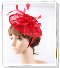 Free shipping 3 colors big size sinamay fascinators for wedding hats bridal headwears cocktail hats party headpiece OF1550