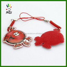 soft pvc mobile phone dangler with jingle bell