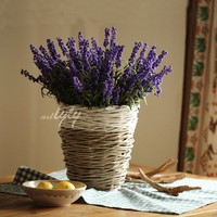 2015 hot sale cheap decorative wicker flower pot for table wholesale