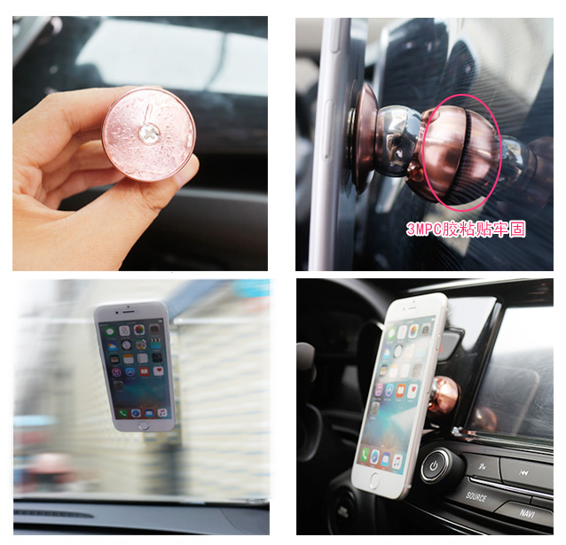Universal flexible mobile phone magnet car mount Magnetic cell phone car holder