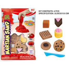 DIY Cake/Car/Castle/Cookie Assorted Indoor Playing Magic Sand with 5-6 molds