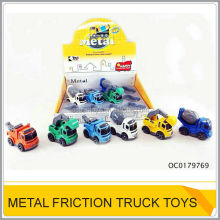 Hot die-cast metal mini toy construction trucks 3 models mix OC0179769