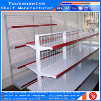 main style back wire mesh gondola supermarket shelf with powder coating