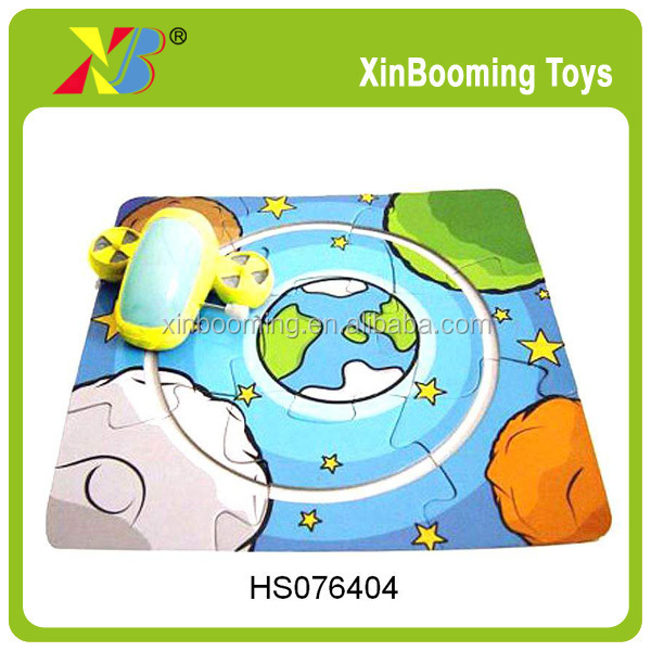 New design Wind Up car with puzzle,Promotion DIY toys