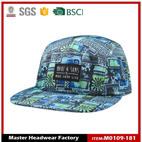 ODM good selling wholesale import custom design your own 5 panel hats