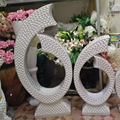 wholesale Wedding event White Sparkle Mosaic mother of pearl sculpture large