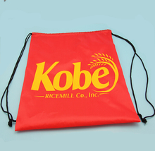 China Alibaba New Design Recycle Hot Sell School Drawstring Foldable Nylon Bag