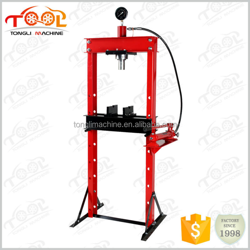 Large working range 20Ton Portable Hydraulic Shop Press With Gauge