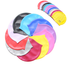 Custom Colored Swimming Caps Silicone Material Waterproof Soft Sport Diving Caps