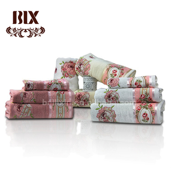 Best Selling 100% Cotton Embroidery Lace Bath Towel