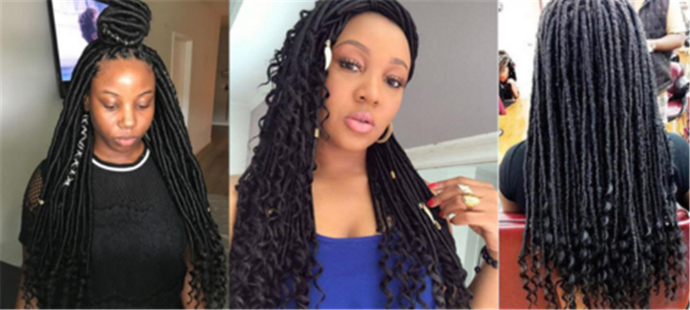 18inch 34strands Curly Senegalese Twist Crochet Braids Synthetic Braiding Hair Extensions for Women
