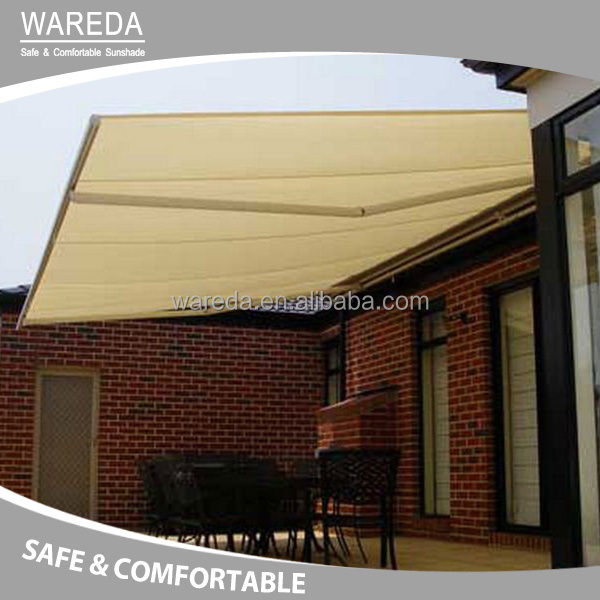 Outdoor full cassette manual retractable awnings