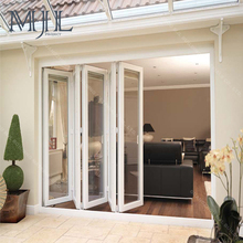 China Quality Guaranteed Durable OEM & ODM Tempered Glass Aluminum Accordion Folding Door