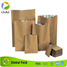kraft paper Stand-Up pouch and Zip Lock Closure With Window Cutout for Tea Nut and Candy Dried Fruits