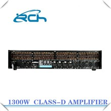 professional factory sound standard equalizer 1300w national amplifier 4 channel