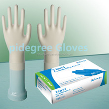 Light transparent disposable examinaion vinyl gloves with powder