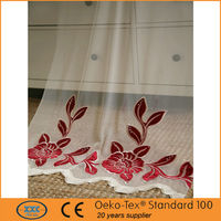 High quality fancy classic embroidered net curtain