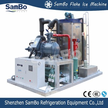 SamBo 30 Ton Heavy Duty Water Cooled Flake Ice Machine With CE Certified And 2 Years Guarantee